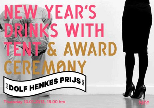 Uitreiking van Dolf Henkesprijs tijdens Nieuwjaarsreceptie Tent