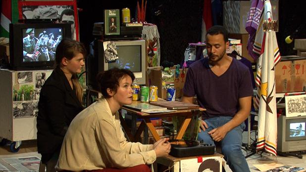 Bouta van Tjon Rockon, Marjolijn van Heemstra en Anoek Nuyens (c video stills grazen.nl)