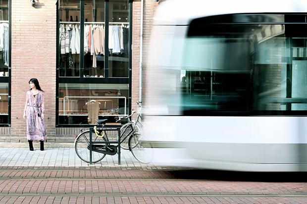 Mode in de tram(remise)