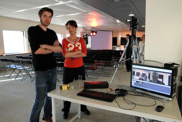 75B boekpresentatie: Inge Feenstra en Jop van Merkom (c grazen.nl)