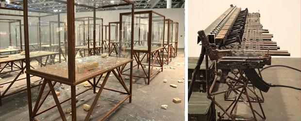 Art Basel - Kader Attia en Pedro Reyes (c Van Dijk/Glasbergen)