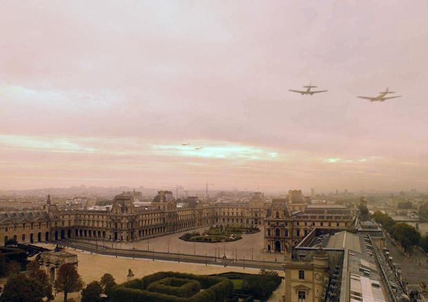 IFFR Francofonia Heinkels boven Parijs